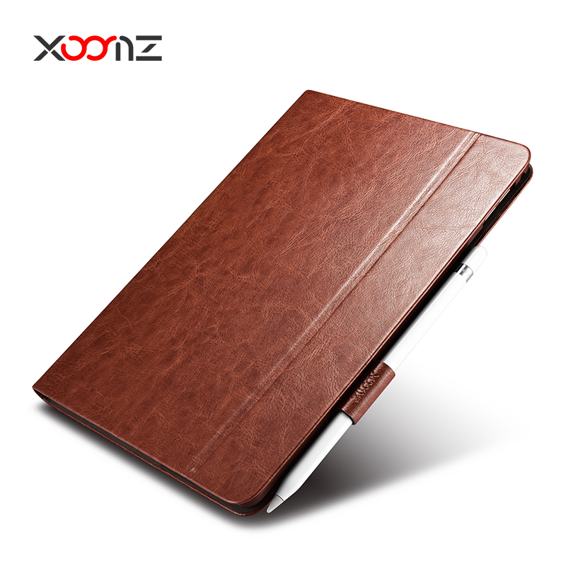 XOOMZ Flip Leather Case Cover for Apple iPad Pro 9.7 12.9 Inch with smart wake up function