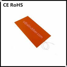 Custom Made 12V/24V Silicone Rubber Heating Pad/Mat/Sheet Stick On Glass/Aluminium Plate