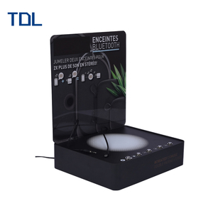 Online selling Light up pop acrylic speaker display with metal