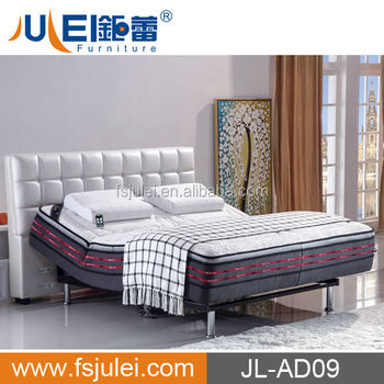 JL-AD09 Modern Smart Furniture Adjustable Bed with massage function and phone control