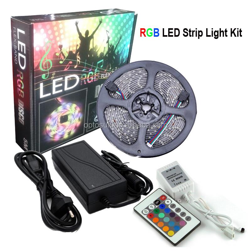 5m Smd Led Rgb Strip 5050 Waterproof Rgb Led Strip Light 300 Led 24 Key Ir