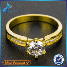 cubic zirconia fashion design 14k gold rings