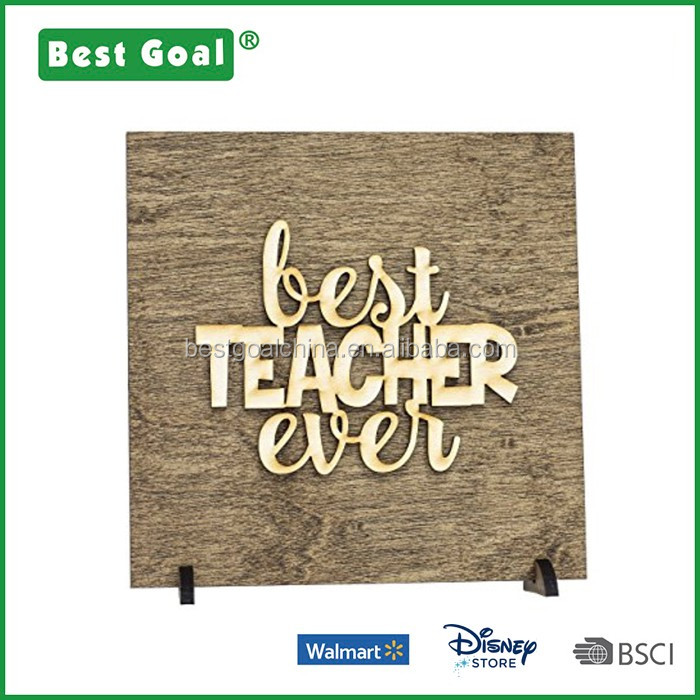 Back to School Gifts for Teachers Best Teachers Wooden Stand