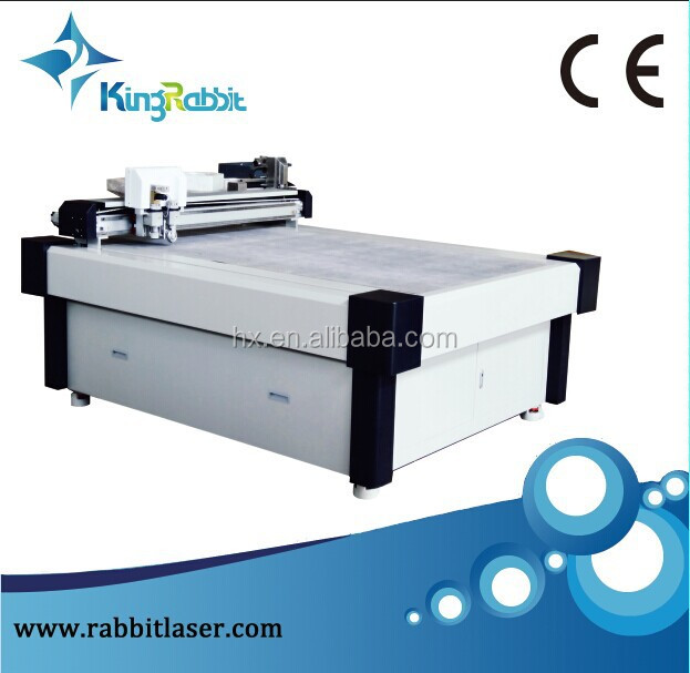 rabbit corrugated cardboard cutting machine with oscillator knife ods-1511