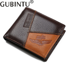 2017 hot sale GUBINTU creative coin purse fashion personality male card holder business men's short leather <strong>wallet</strong>