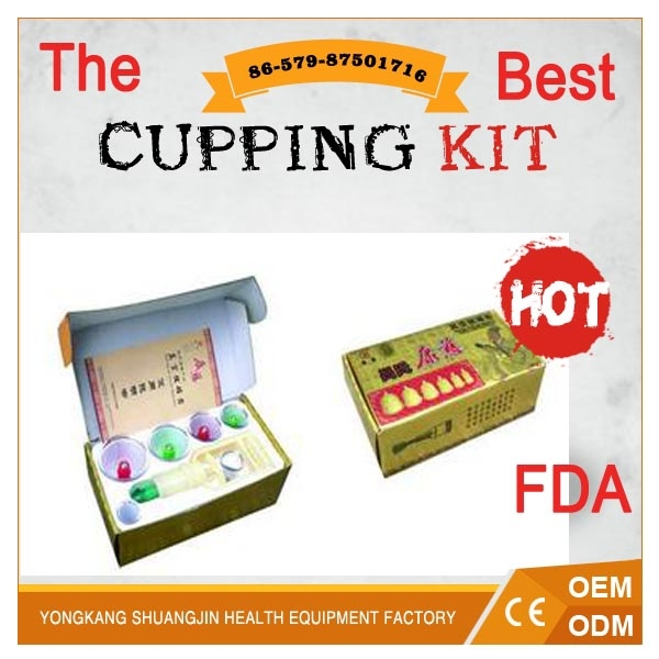 English instruction 6PCS cups self-treatment vacuum cupping set
