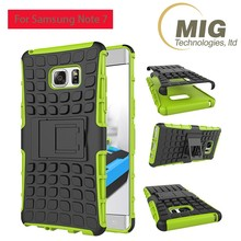 PC Soldier Case and TPU Case Three Layers of Protective Cell Phone Case for Samsung Galaxy Note 3 4 S7 S7edge for iPhone 7