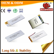 Safe performance under PCM protection 36650 flat 5v 12v lithium battery