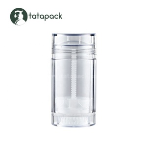 75ml plastic clear gel empty deodorant stick container 50ml 30ml 15ml cosmetic round twist up tubes packaging bottle wholesale