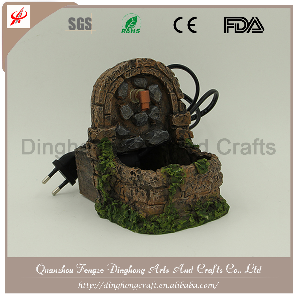 Custom Resin Mini Indoor Water Fountain Tabletop Water Fountain