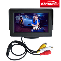 Professional small portable car use 4.3 / 5 inches tft color lcd car reverse monitor