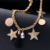 Decorative Metal Gold Pendant Necklace Fashion Gold Star Tassels Nacklace