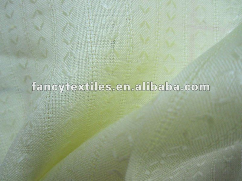 100% ramie and linen dyed jacquard textile fabric