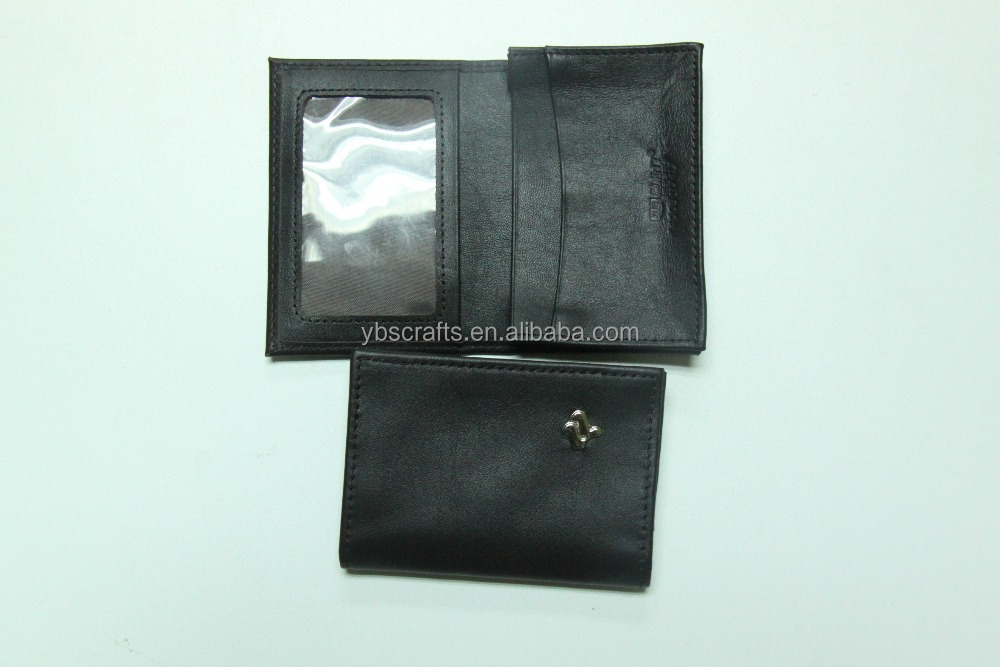 Leather Credit Card Holder ID Business Case Book Style