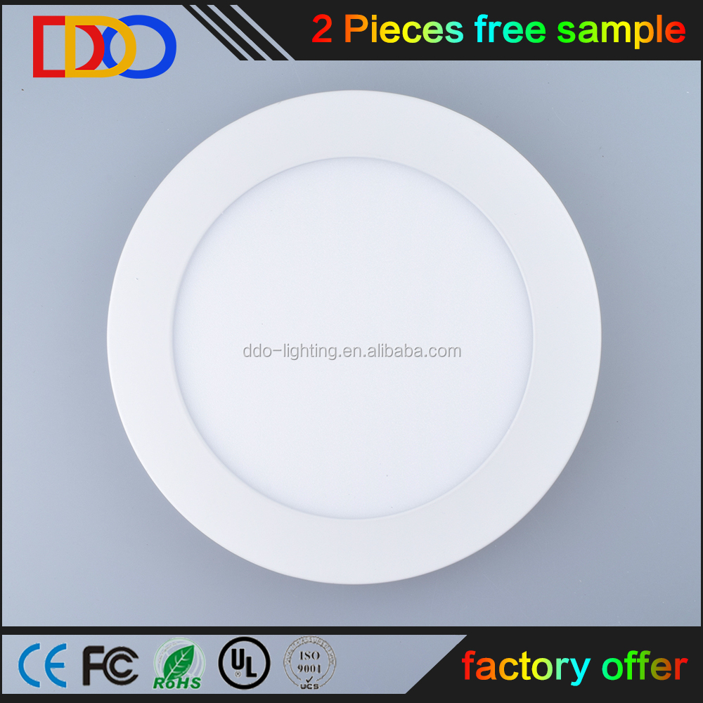 surface mounted round 12w led panel lamp with bottom factory price