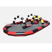 HI EN14960 Interactive inflatable car race track,mini car race track