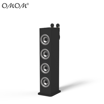 2.1 tower speaker with BT Radio SD USB microphone LED light