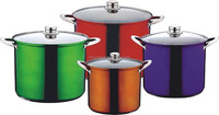 stock pot with color coating