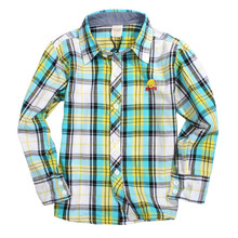 China factory fashion plaid casual kids shirts