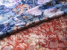 polyester rayon printing single jersey knitting fabric of ladies T-sirt