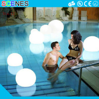 Outdoor moonlight waterproof color changing wireless led illuminated light glow floating swimming pool ball