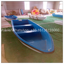 CE Cheap fishing fiberglass plastic rowing boat for sale