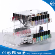 Wholesale high quality custom acrylic lucite clear cube makeup organizer