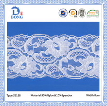 Cheap high quality elastic nylon lace trim