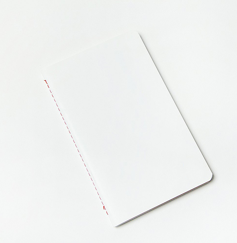 Manufacturer White Paper Cover A5 Journal Shorthand Script Sewing Stitching Custom Notebook with Blank Red Paper