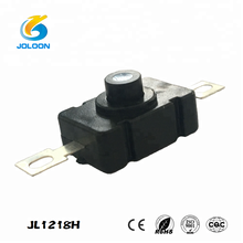 Factory Outlet JL1218H on-off switch for Rlashlight black electric torch push button switch
