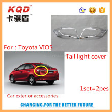 car chrome accessories abs plastic tail light cover for toyota new vios 2014~on