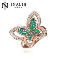 2014 fashion butterfly design new model wedding ring R308