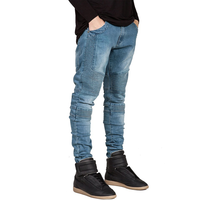 Wholesale Bulk China Cheap Clothes Fashion Custom Designer Man Biker Strech Skinny Denim Jean