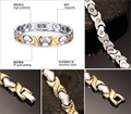 Love bio magnetic titanium bracelet for female and male with energy magnetic stone
