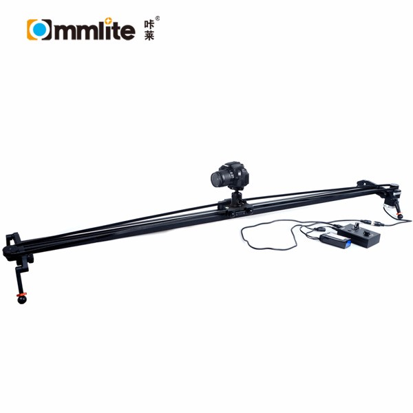 Commlite 1.20m Electronic Video Slider Stabilizer Rail with Ball-Bearing Slide, Adjustable Legs& Case