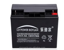 12V DC Panel Battery 12V 17ah Maintenance Free Acid Battery