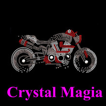 2015 western motorcycle rhinestone transfer heat press motif for headband