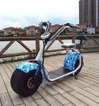 2017 Popular Harley Scrooser Style Electric Scooter with Big Wheels, Fashion City Scooter Citycoco