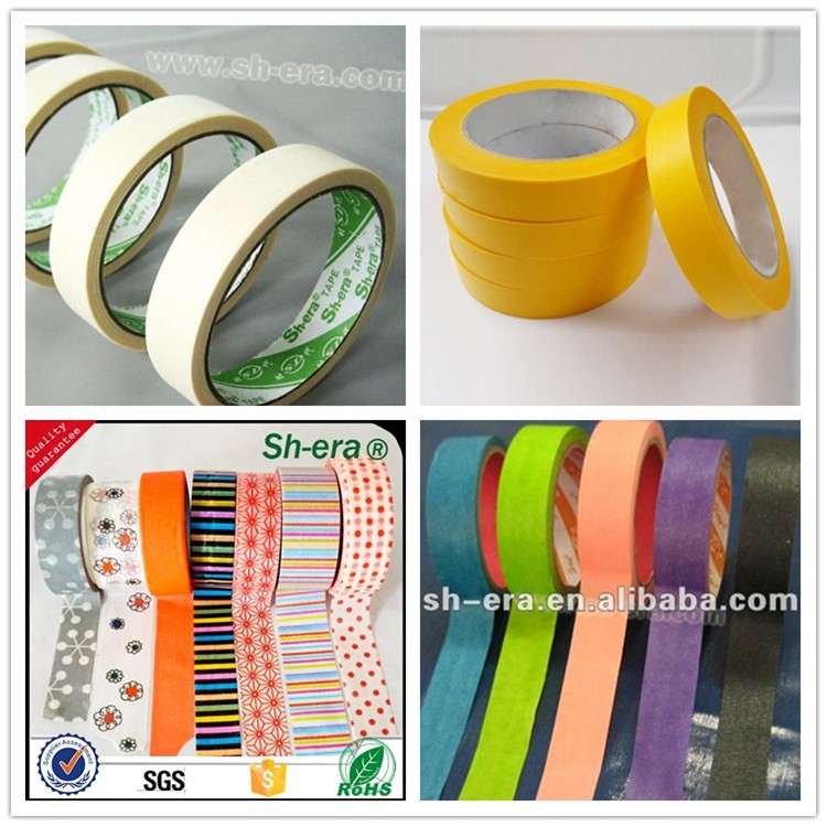 Wholesale price Economy Grade non-critical Applications colored adhesive spray Masking Tape manufacturers