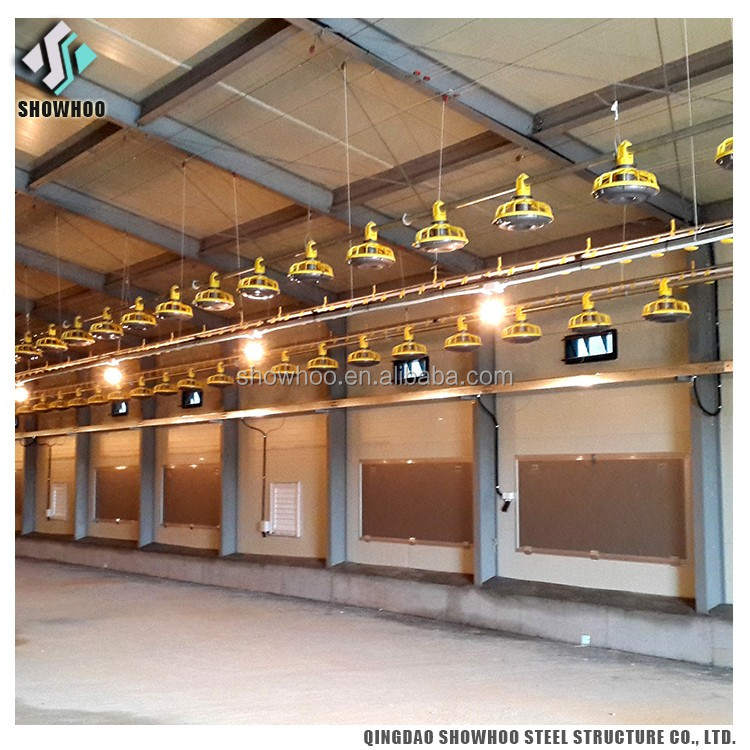 Low Cost Prefab Chicken Broilers Shed Design Poultry Farm In Malaysia