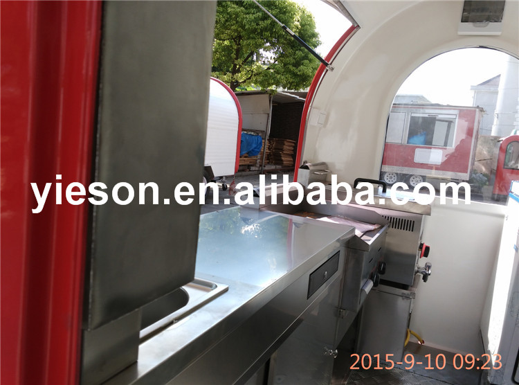 Popular Using caravan trailer fast food trailer sale from china with 2 years warranty / mobile trailer with ice cream machine