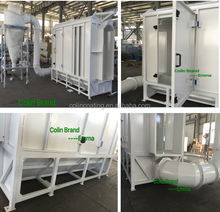 Small automatic spraying booth/spray paint booth/powder coating chamber set
