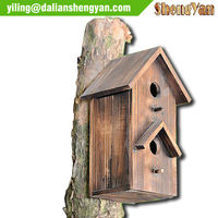 Small good looking Hanging Wood Pets Bird Cage House