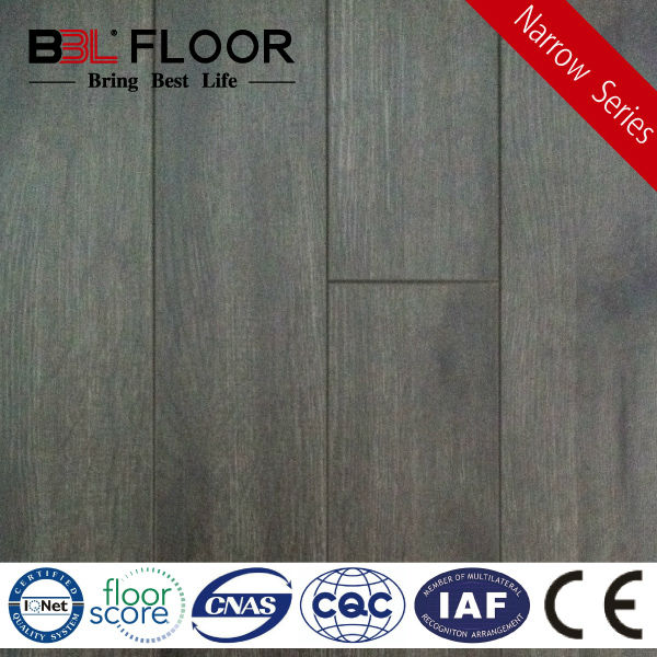 12mm Thickness AC3 Crystal Black Oak Narrow cheap outdoor flooring 1686-6