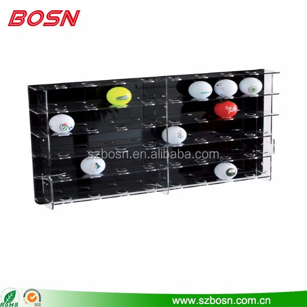 craft acrylic golf ball display stand crystal display frame large acrylic golf ball display rack