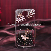 FL133 fashion colorful Swan Lake dancing girl Camellia diamond crystal case for samsung galaxy s4
