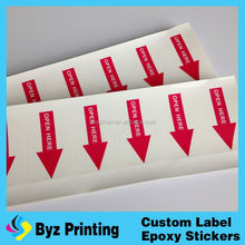 Cheap transprent security PVC waterproof machine labels printing id card hologram sticker