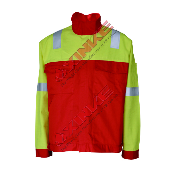 100% cotton hivis flame resistant jacket for workwear