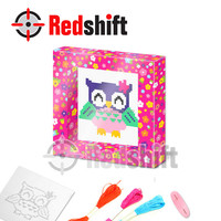 Children crafts DIY kit toy Cross Stitch Owl Wall Art