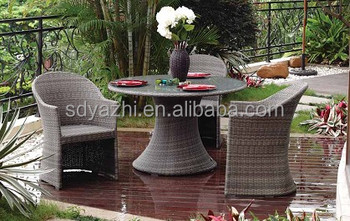 bm garden furniture in brown flat wicker includes two sigle chairs and one small coffee table view larger image